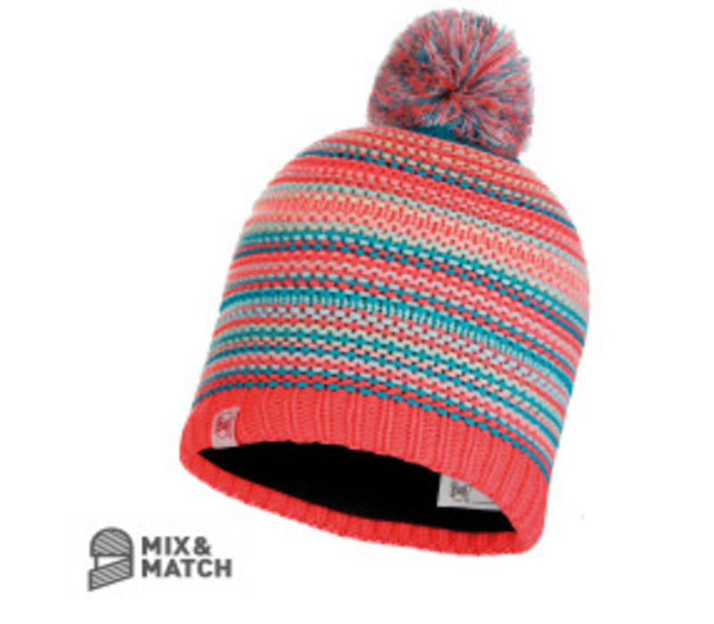 Amity Coral Pink Jnr Knitted Hat