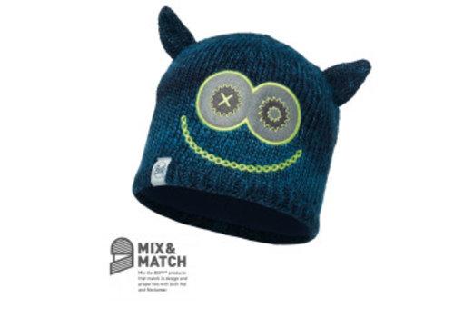 BUFF Buff Monster Merry Dark Navy/Navy Jnr Knitted & Polar Hat