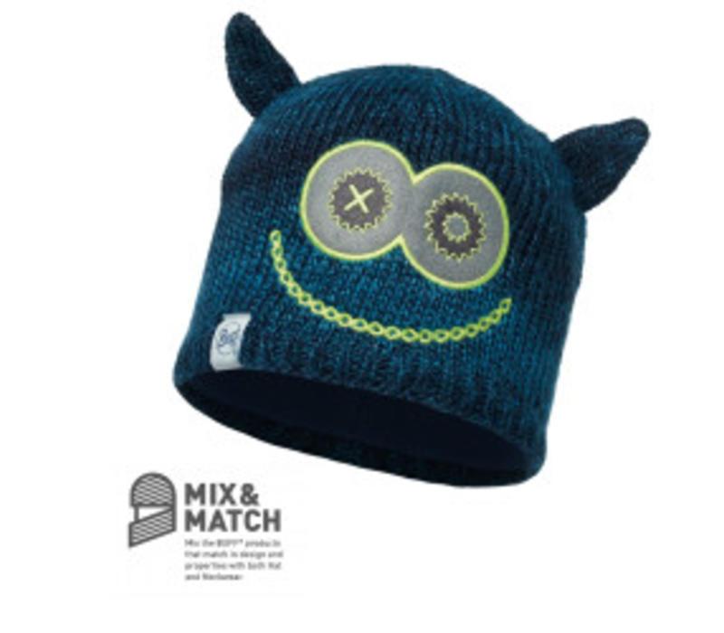 Monster Merry Dark Navy/Navy Jnr Knitted & Polar Hat