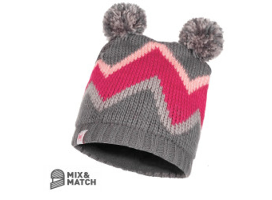 Buff Arild Grey Jnr Knitted Hat