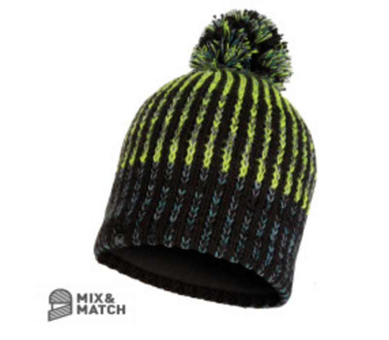 Buff Iver Black Knitted Hat
