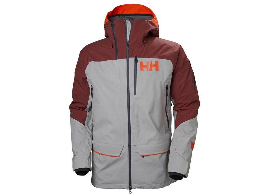 Helly Hansen Ridge Shell 2.0 Jacket Light Grey/Brick