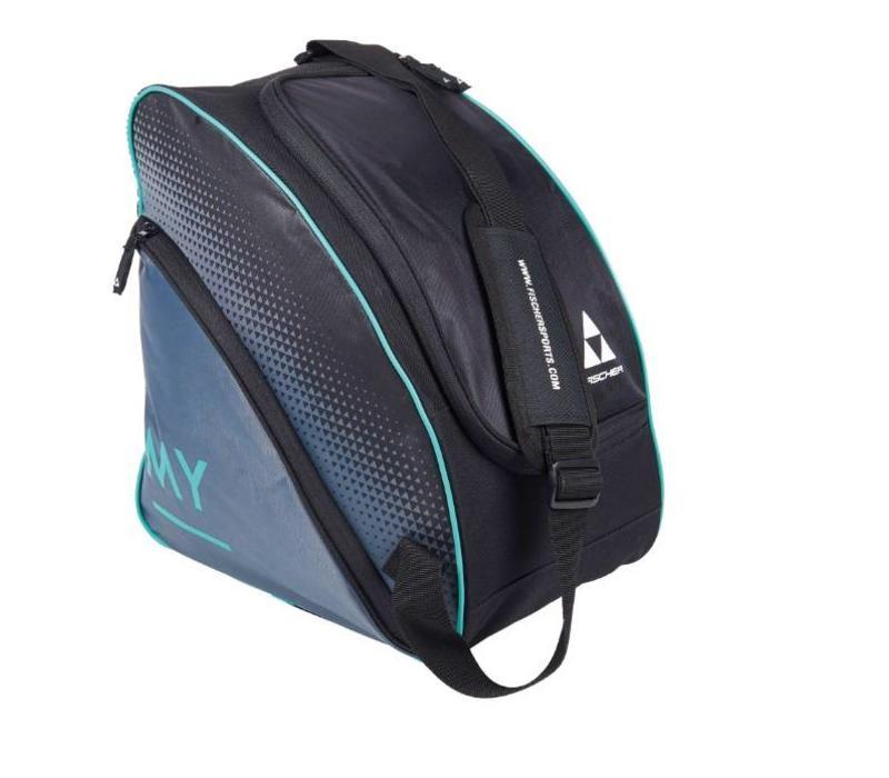 Fischer My Alpine Ski Boot Bag Blk/Turq