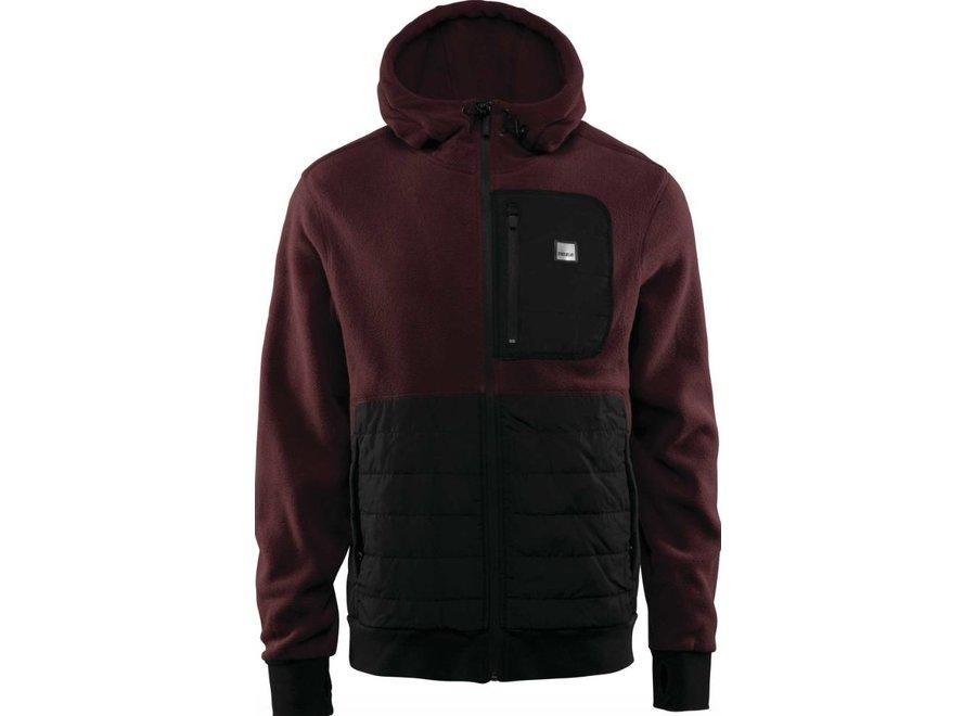 Thirtytwo Filter Fleece Zip Hood Burgundy