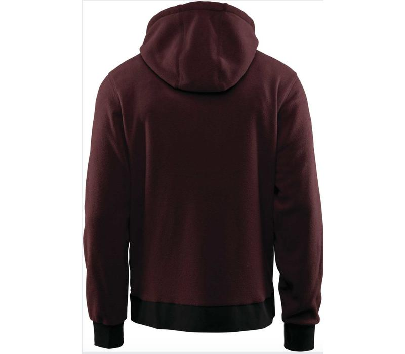 Thirtytwo Filter Fleece Zip Hood Burgundy