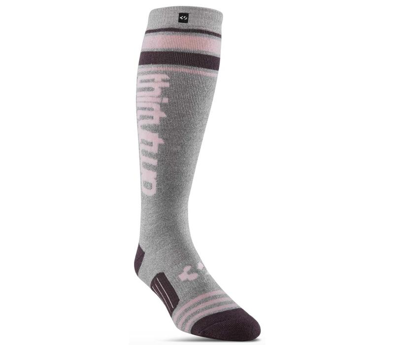 Wms Stripe Graphic Sock Char