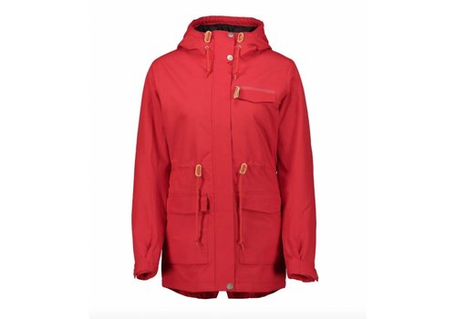 WearColour Wear Colour State Parka Red