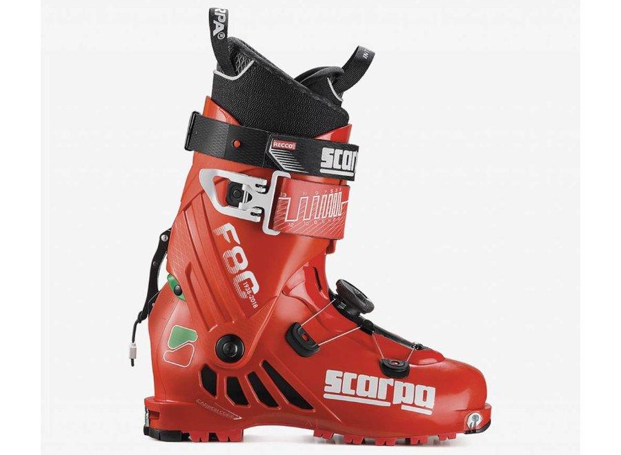 Scarpa F80 Ski Boot Green/Wht/Red