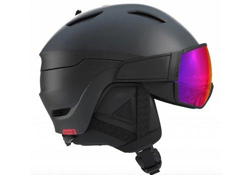 SALOMON Driver Helmet + Black/Red Accent/Solar visor