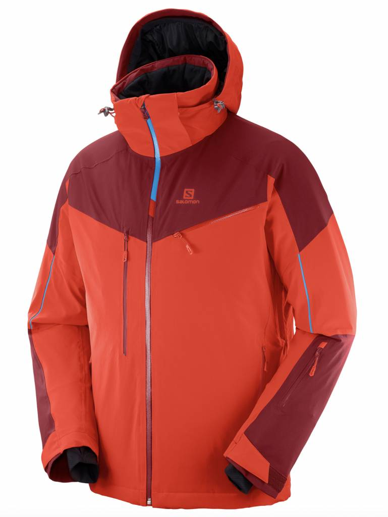 Salomon Icespeed Jacket M Fiery Red Men'S Outerwear Men'S Jackets Ski Clothing