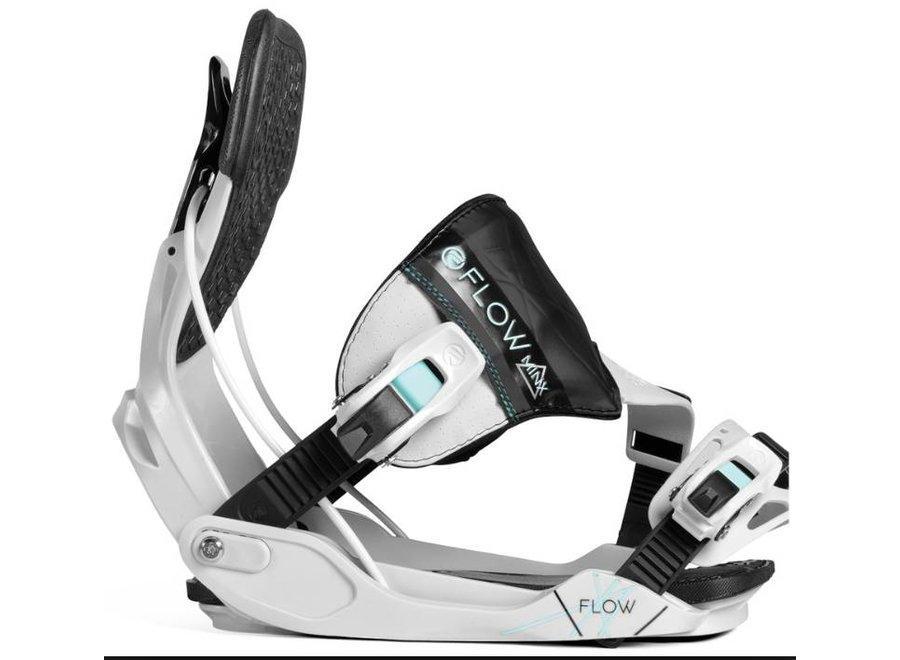 Flow Minx Grey/Aqua Snowboard Binding