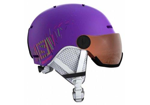 SALOMON Salomon Grom Visor Helmet K Purple Mat