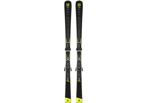 SALOMON S/MAX 10 SKI + Z12 Walk Binding Blk/Yell