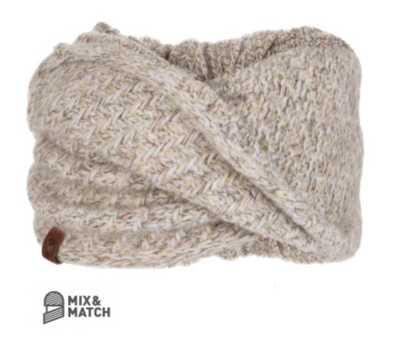 Buff Agna Sand Knitted Wrap