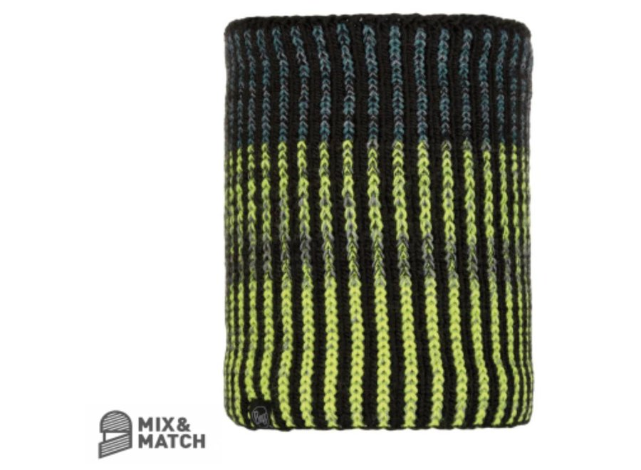 Buff Iver Black Knitted Neckwarmer