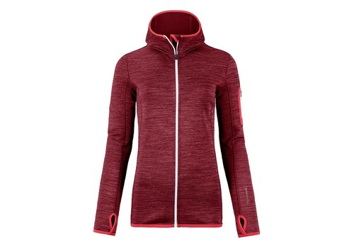ORTOVOX Ortovox Fleece Melange Hoody W Dark Blood