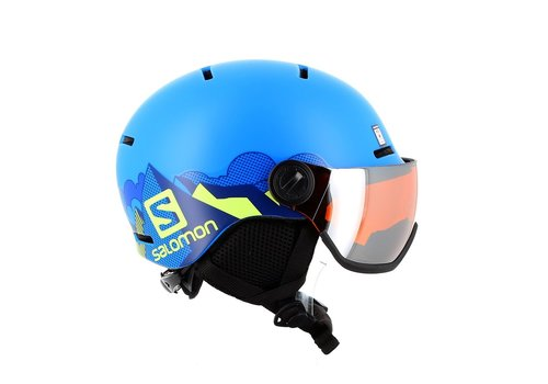 SALOMON Grom Visor Helmet K Pop Blue Mat