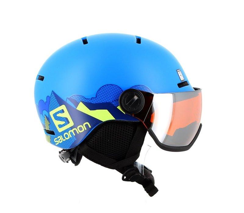 Salomon Grom Visor Helmet K Pop Blue Mat