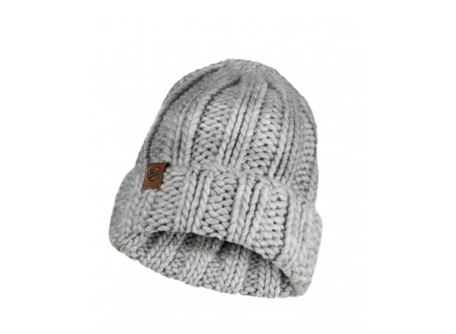 Vanya Knitted Hat - Melange Grey