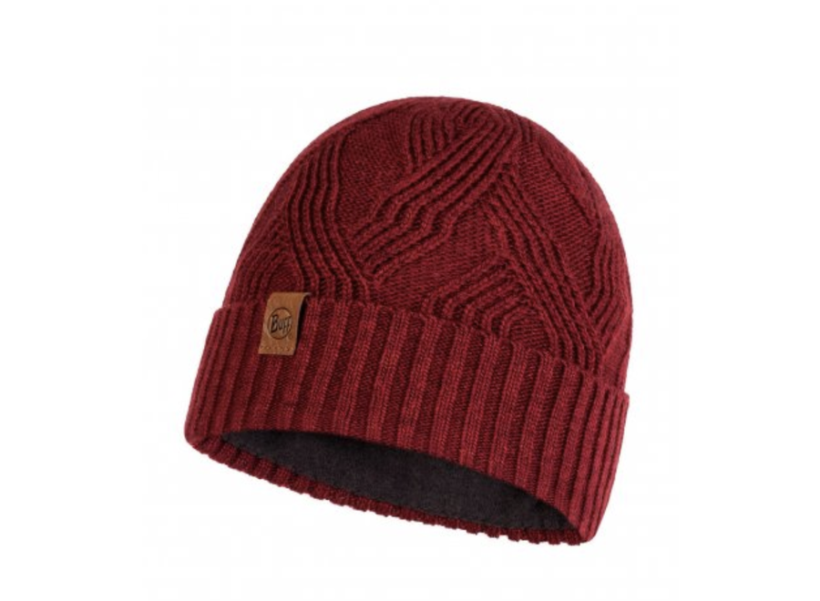 Artur Knitted Hat - Maroon