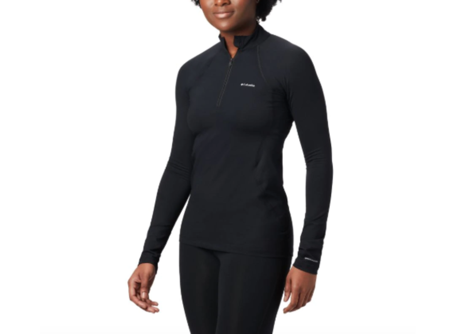 Columbia Women's Midweight Long Sleeve Half Zip Black