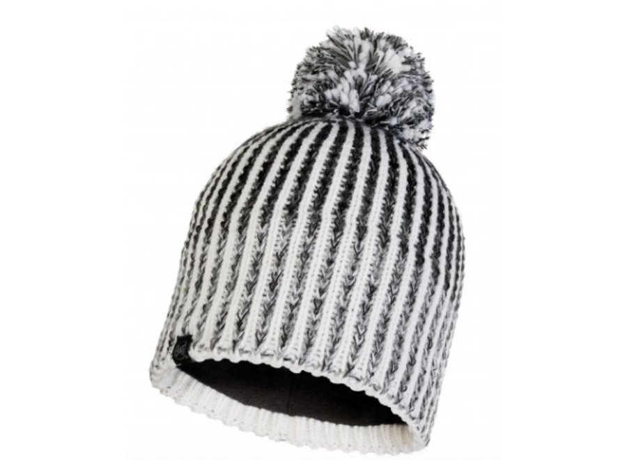 Buff Iver Knitted Hat - Grey