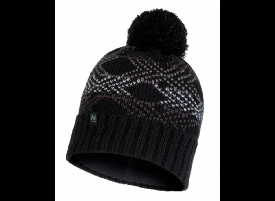 Buff Garid Knitted Hat - Black