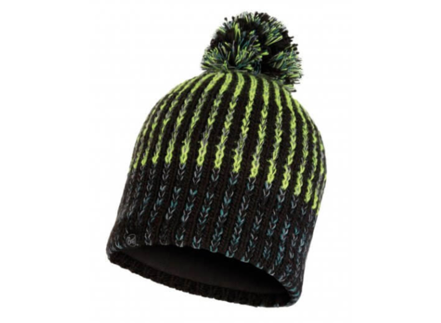 Buff Iver Knitted Hat - Black