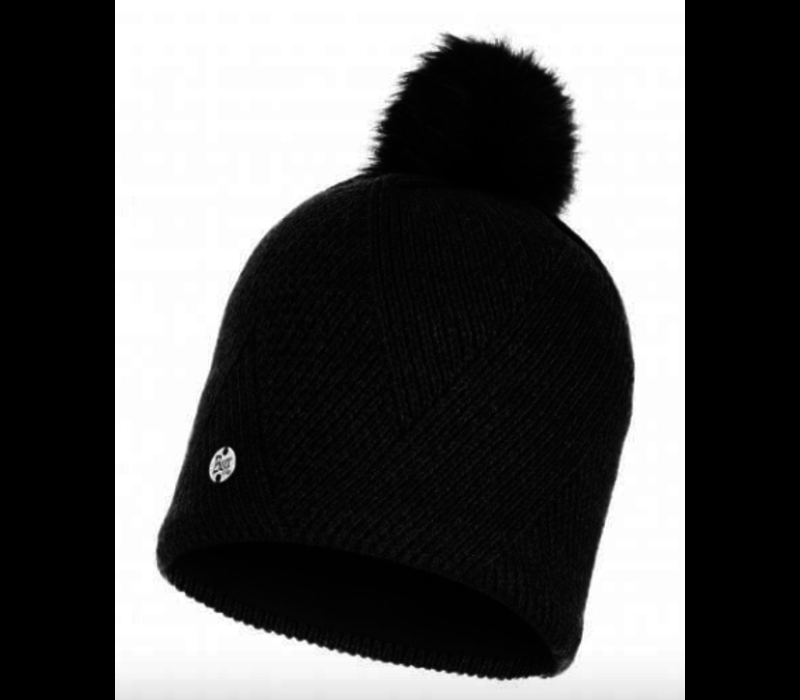 Buff Disa Knitted Hat -Black