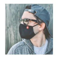 Technical 3 Layer Ergonomic Facemask (5Pack) Black