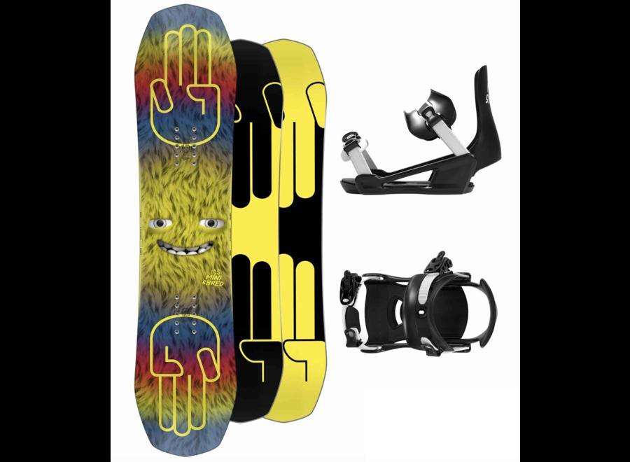 Bataleon Minishred Snowboard + Binding Set