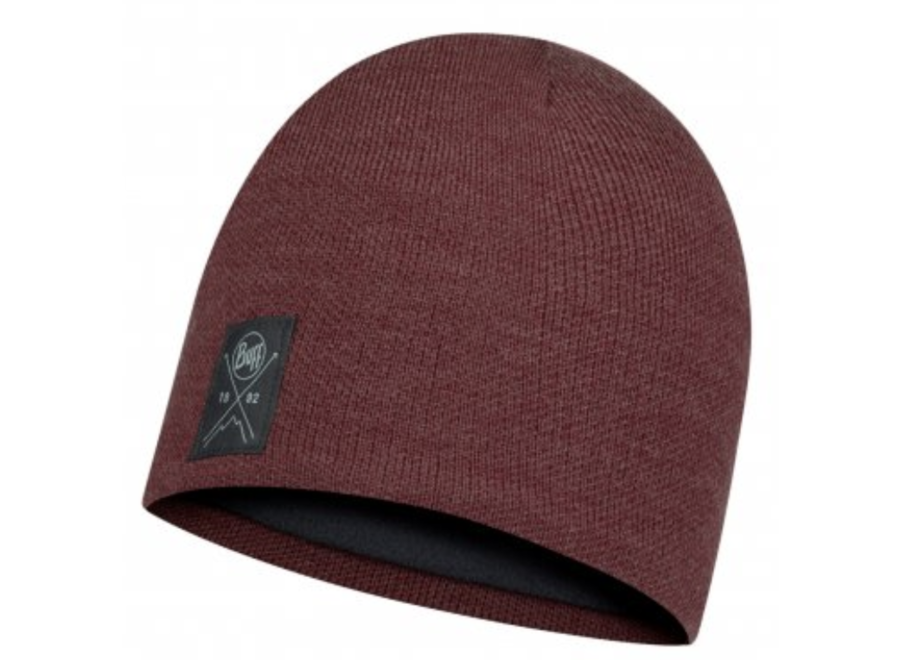 Solid knitted & Fleece Hat