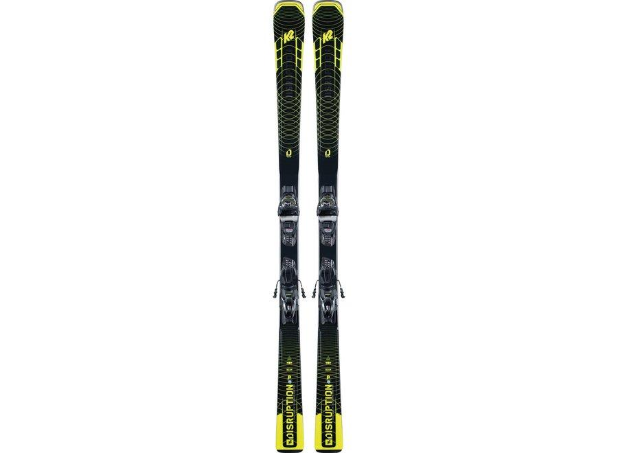 K2 Disruption SC Men's Ski + M3 11 Compact QuickClick Binding