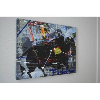 Max Verstappen Mixed Media Schilderij 60 x 40 cm