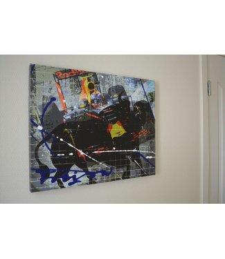 Max Verstappen Mixed Media Schilderij 60x40 cm