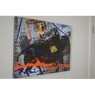 Max Verstappen Mixed Media Schilderij 60x 40 cm