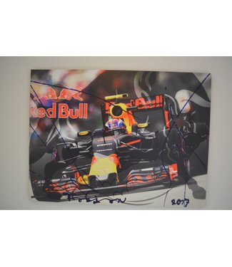 Max Verstappen Mixed Media schilderij
