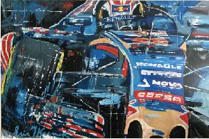 Schilderij Max Verstappen debuutjaar Formule 1