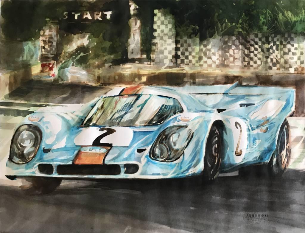 Porsche 917K Gulf Blue/Orange | Gilberto Gaspar