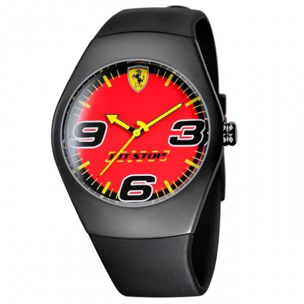 Ferrari Pitstop Horloge   Rood