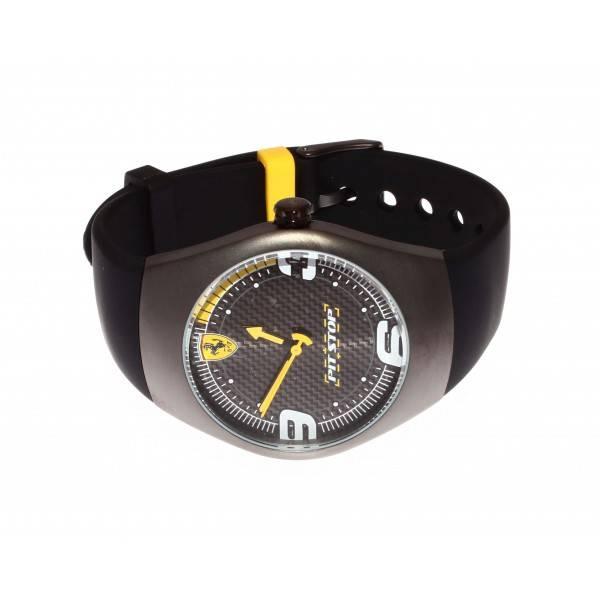 Ferrari Pitstop Horloge | Zwart/Geel