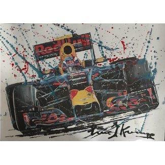 Litho Max Verstappen Red Bull Racing | Gemengde techniek