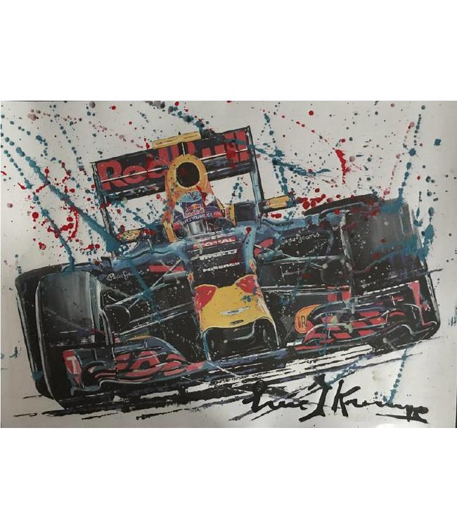 Litho Max Verstappen Red Bull Racing | Gemengde techniek