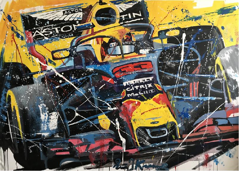 Eric Jan Kremer schilderij  - Max Verstappen