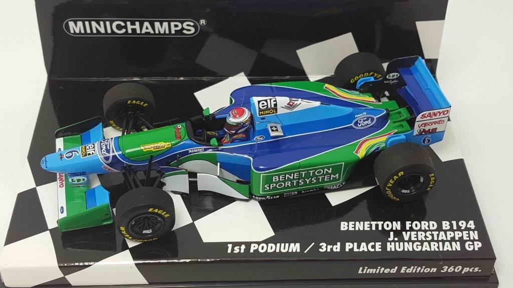 Minichamps Schaalmodel Jos Verstappen 3e plaats GP Hongarije 1994