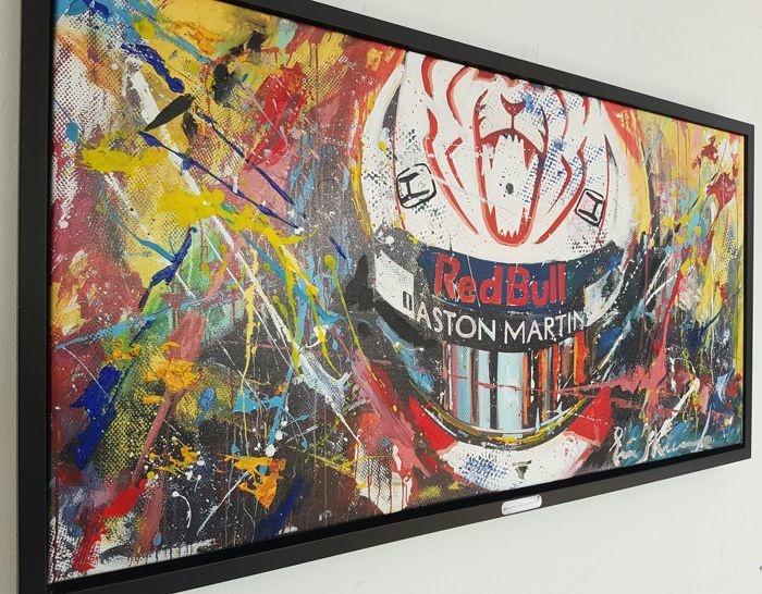 Max Verstappen schilderij Mixed Technique Hero of Monaco