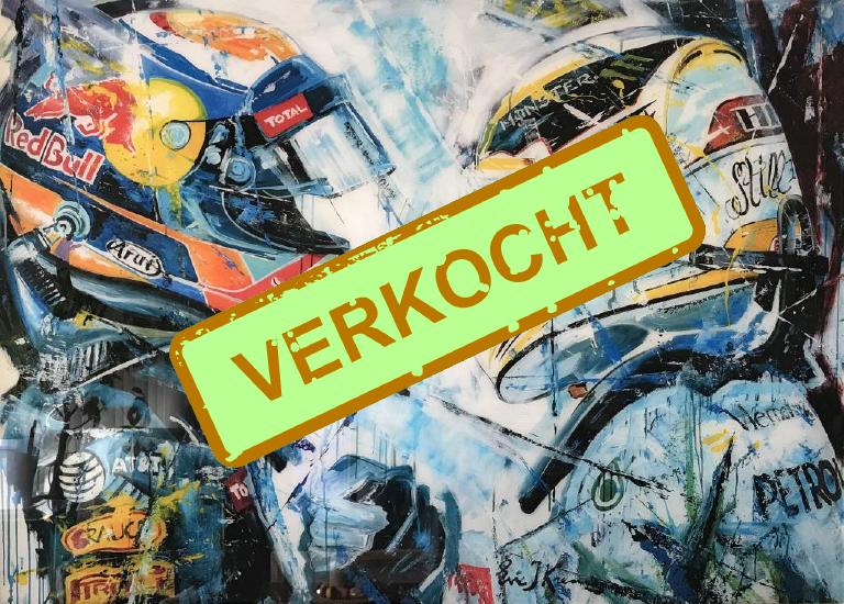 Plexiglas kunstwerk Max Verstappen In competition