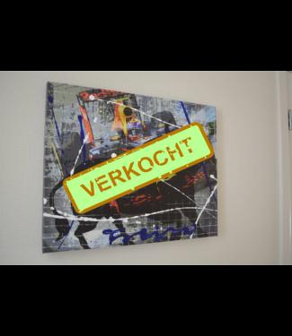 Max Verstappen Mixed Media Schilderij 60 x40 cm
