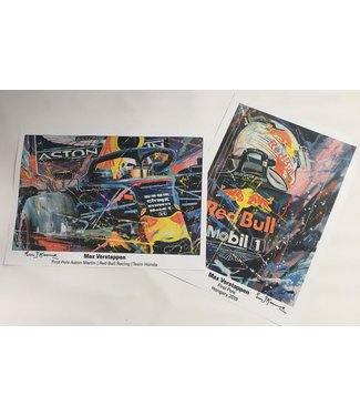 Max Verstappen First Pole Litho set | Eric Jan Kremer