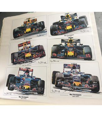 Max Verstappen 6x Litho  set | Eric Jan Kremer